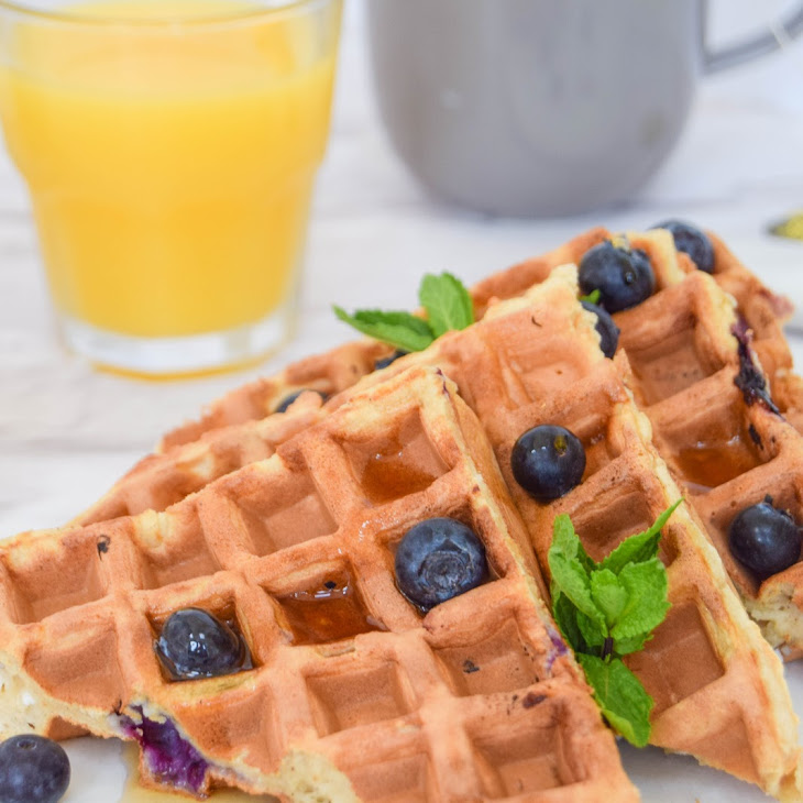 Blueberry Cinnamon Ricotta Waffles Recipe
