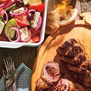 Greek Salad Stuffed Pork Tenderloin Recipe