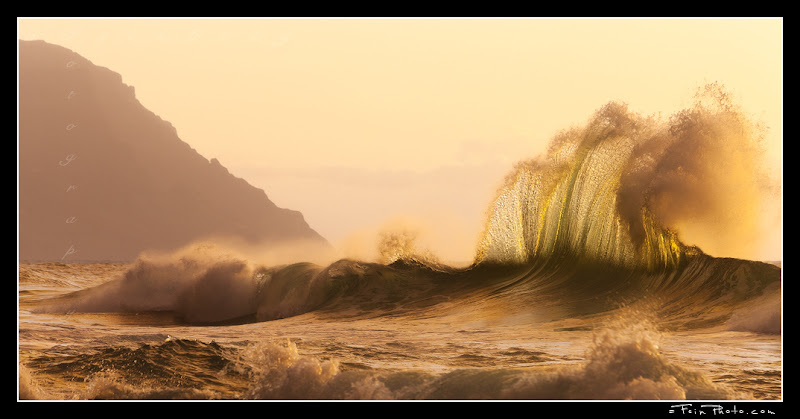 Photo: Waves at sunset along the Na Pali coast taken while on a private photo workshop. Weeeeeeee!  Thanks :)  aF