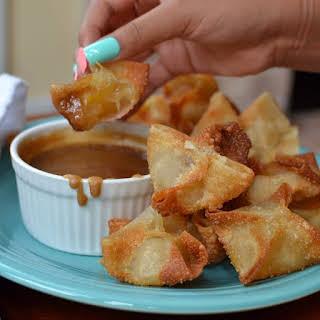 Apple Wontons with Caramel Dipping Sauce.