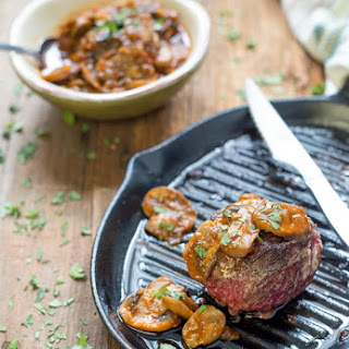 Top Sirloin with Mushroom Reduction Sauce