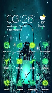 Fluorescence night Launcher Theme - náhled