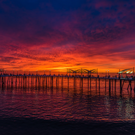 Redondo by Kirk Mills - Buildings & Architecture Bridges & Suspended Structures ( sky, california, sunset, pier, ocean )