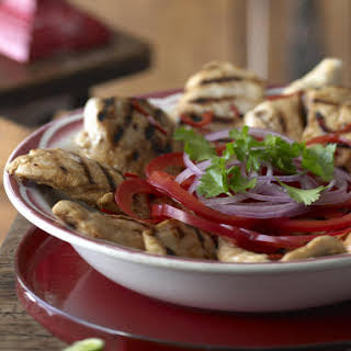 Grilled Turkey with Onions and Peppers.
