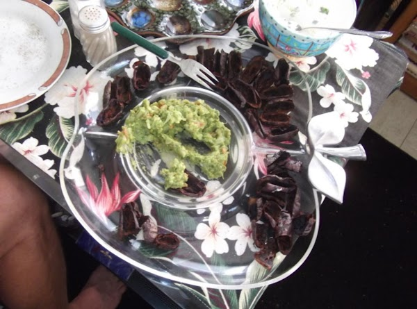 OR:  use the skins as little scoops and use to dip into guacamole...
