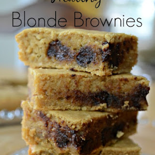 Healthy Blonde Brownies.
