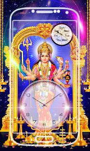 Durga Devi Clock Live Wallpaper - náhled
