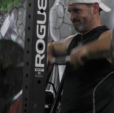 Longtime BDJ Fitness Client Phillip Weinsinger doing High Pulls
