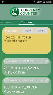 Kalkulator Walut – miniaturka zrzutu ekranu