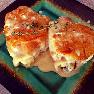 Creamy Garlic Chicken Thighs with Thyme.