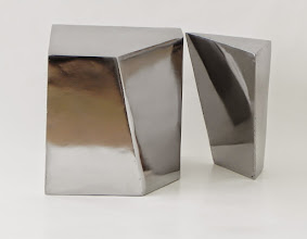 Photo: TRUNCATED - 7H X 7W X 7D Polished Mild Steel, Display View