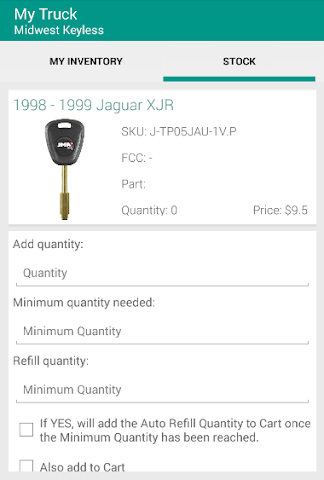 android My Truck - Midwest Keyless Screenshot 1