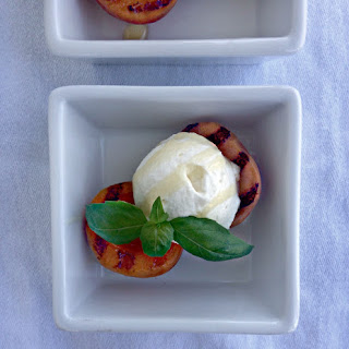 Grilled Apricots with Honey Whipped Cream.