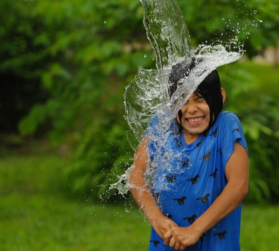 Splat Hat by James Bokovoy - Babies & Children Children Candids ( water, girl, splash, summer fun, kids, water drop  )