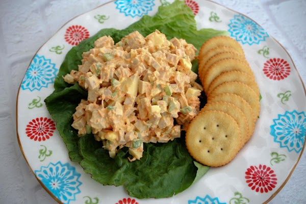 Great spread on wheat bread with crispy lettuce or on crackers for an appetizer.