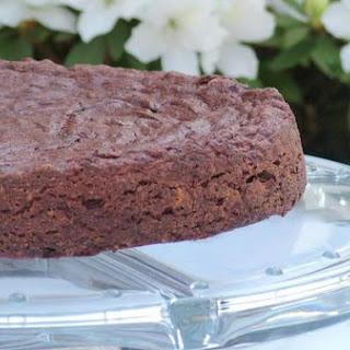 Flourless Chocolate Cake With Chai Whipped Cream.