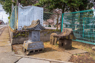 Photo: Stone shrines belonging to Nagara Shrine, by the roadside in Ōizumi, Ōra District, Gunma Prefecture. Read more about Oizumi: http://japanvisitor.blogspot.jp/2015/04/oizumibrazil-in-japan.html