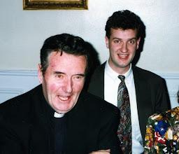Photo: with nephew Dan Naughton 1992