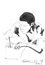 Photo: 桃少輔成長營之自由書寫(二)2011.07.28鋼筆畫 十五分鐘對這裡的孩子來說實在太短了!時間到了還不願放下筆: 老師!我還有好多夢想還沒寫呢!