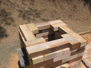 Photo: Chimney base ready for culvert flue.