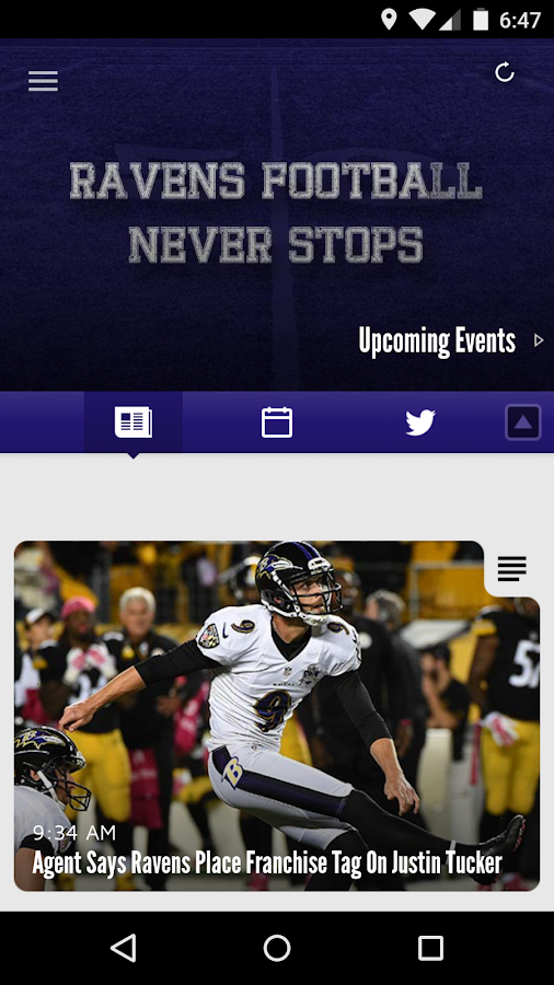 Baltimore Ravens Mobile- screenshot