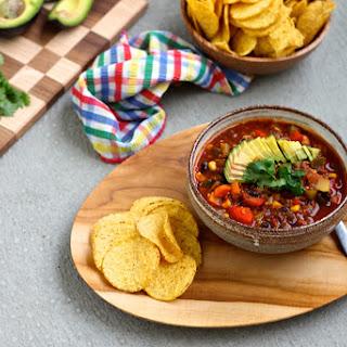 Vegan Three-Bean Quinoa Chili.