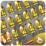 3D Gold Gunnery Bullet Battle Shots Keyboard Theme