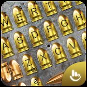 App 3D Gold Gunnery Bullet Battle Shots Keyboard Theme APK for Windows Phone