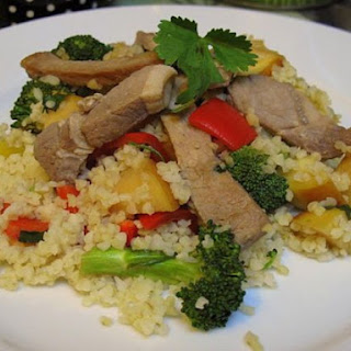Pork and Apple Bulgar Wheat Salad