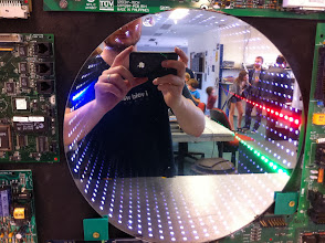 Photo: Inspired by this infinite mirror LED clock at Hackerspace Brisbane... (http://hsbne.org/)