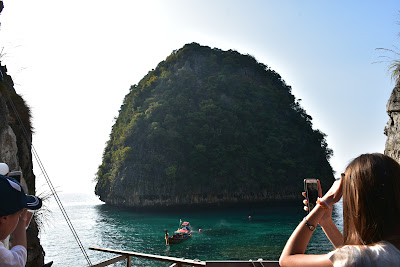 Walk from Maya Bay to Loh Sama Bay for making photos