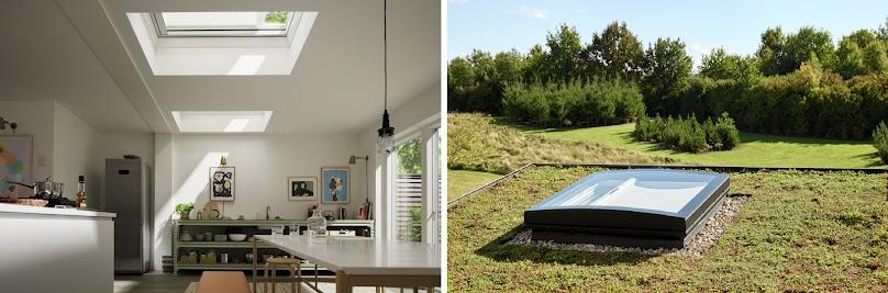 Okna do płaskich dachów z markizą solarną VELUX