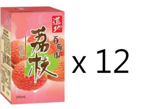 道地 - 荔枝果味飲品250毫升 x 12包