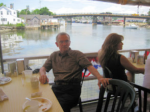 Photo: Lunch at Geno's in Portsmouth overlooking the Piscataqua River mouth along the Maine-NH border.