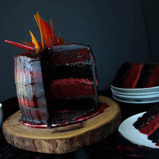 Fire and Blood Layer Cake.