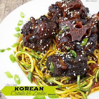 Slow Cooker Korean Oxtails & Zoodles (Paleo).