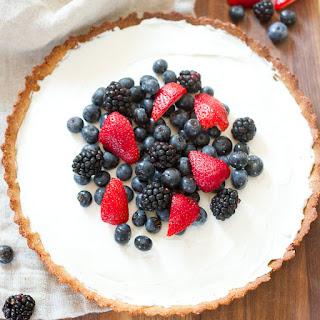 Healthy Greek Yogurt Berry Tart.