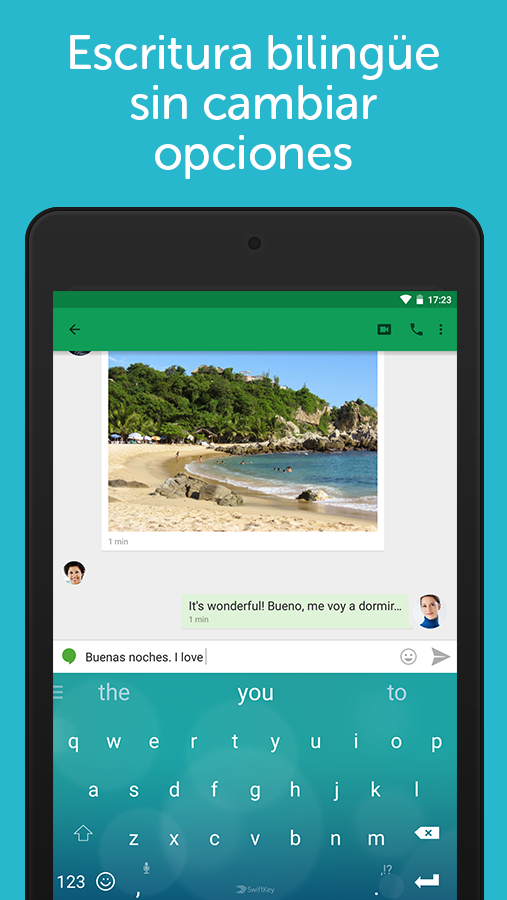 Teclado SwiftKey + Emoji: captura de pantalla