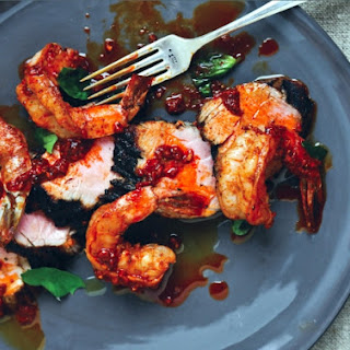 Kevin Gillespie's Grilled Pork Tenderloin With Spanish-Style Garlic Shrimp