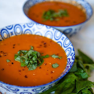 Vegan Curried Tomato Soup.