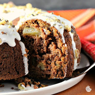 Apple Raisin Rum Cake.