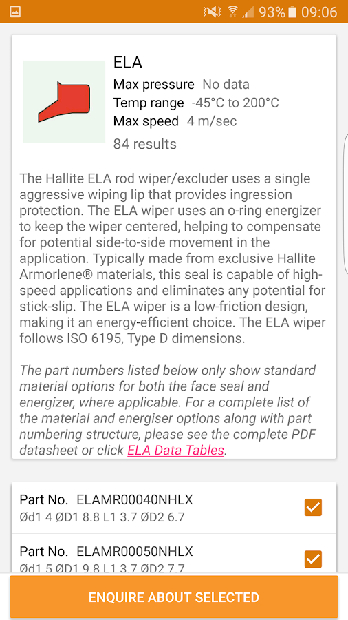 Hallite Product Finder- screenshot