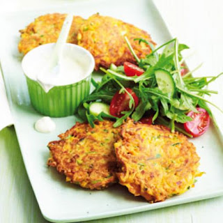 Sweet Potato And Zucchini Fritters.