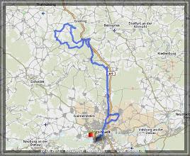Photo: 22.06.2012 - Rollertour nach Heimbach : GPS aufgezeichnet auf GPSies.com >> http://72g.de/mzf  -- Abfahrt ist immer ab Kösching, ich zeichne aber ab Haunwöhr auf