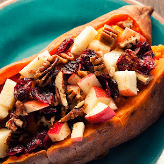 Sweet Potatoes with Pecans, Apples, and Dried Cranberries Recipe