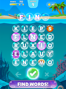Bubble Words Game - Search and Connect the Letters- screenshot thumbnail