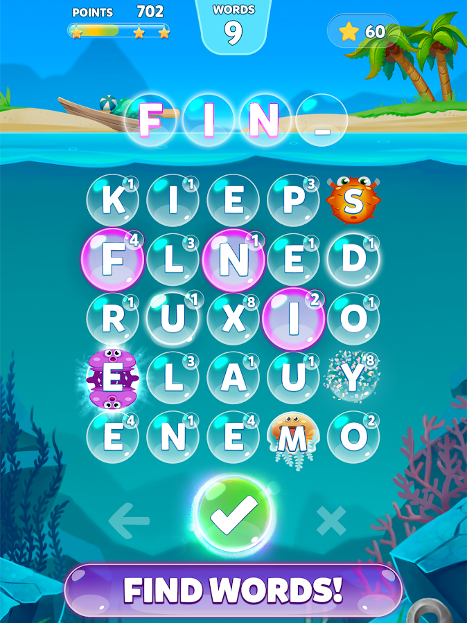 Bubble Words Game - Search and Connect the Letters- screenshot