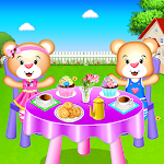 Toy Tea Party - Cleaning and Cooking Game Icon