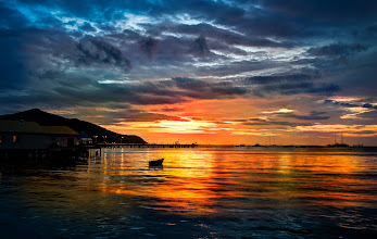 Photo: First Sunset in Thailand  Here's a photo I took last night while walking down the pier near Bang Saray beach in Thailand. I'm staying here at the amazing Karma Sound Studios and this is just a short walk... I have a feeling where I will be almost every night!