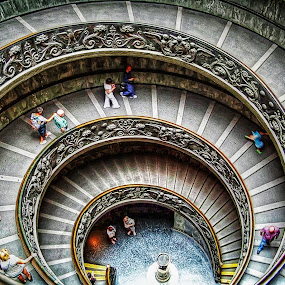 Spiral staircase of Vatican museums  by Andrea Conti - Buildings & Architecture Architectural Detail ( stairs, museums, rome, staircase, vatican, architecture, spiral, city of vatican, italy )